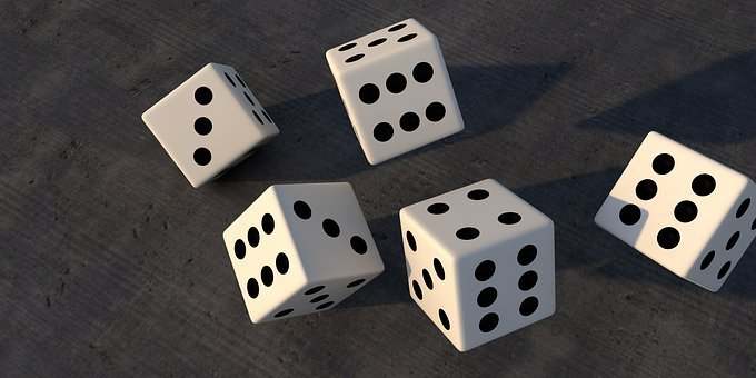 Luck, Play, Cube, Random, Happy, Points, Pay, Eyes