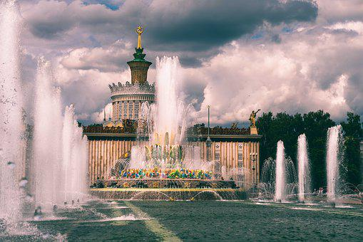 Vdnh, Fountains, Exposition, Attraction, Tourist