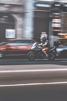 Motorcyclist, Road, City, Motorcycle, Freedom, Engine