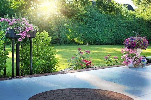 Back Porch, Flowers, Garden, Gardening