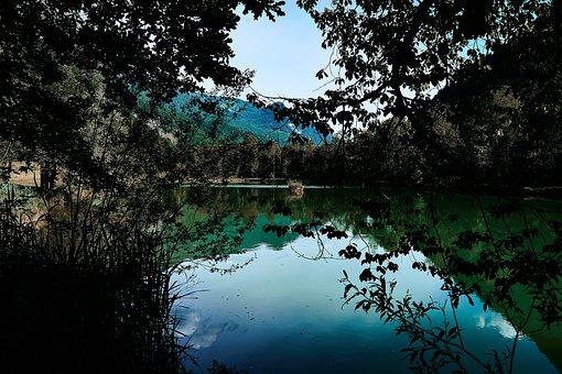 Landscape, Lake, Water, Hagertal, Hagersee, Mirroring