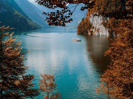Lake, Landscape, Nature, Königsee, Germany, Alps