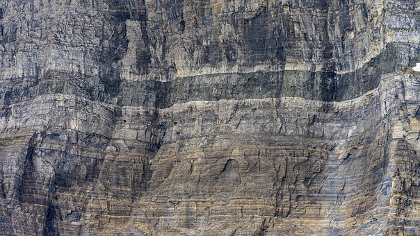 Rock, Layers, Stone, National Park, Glacier, Montana