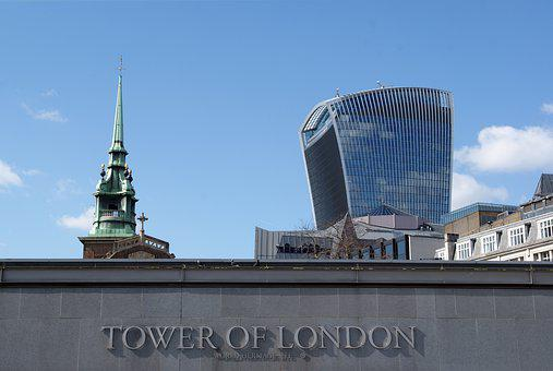 London, Tower, Sightseeing, Architecture, Building