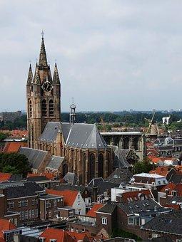 Netherlands, Delft, Architecture, Church