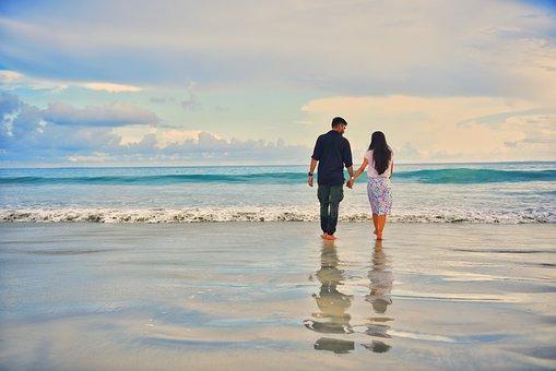 Beach, Love, Couple, Ocean, Sea, People, Summer