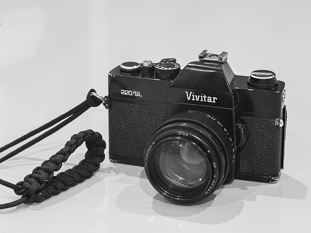 Vintage, Camera, Slr, Vivitar, Film, Lens, Dslr, Old
