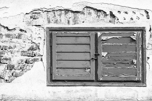Window, Wall, Building, House, Facade, Frame, Old