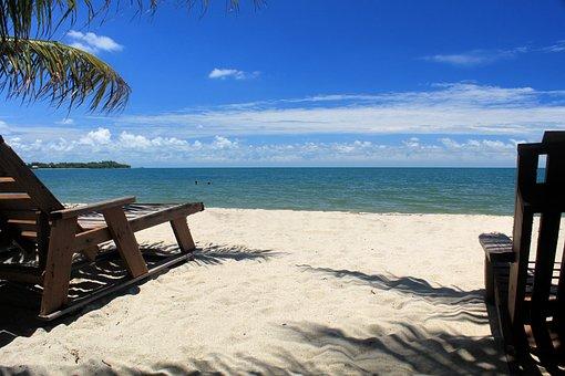Beach, Placencia, Belize, Ocean