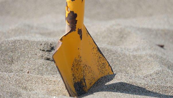 Beach, Sandburg, Sand, Summer, Vacations, Blade
