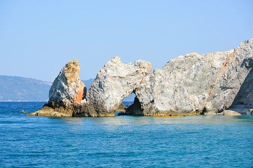 Lalaria, Beach, Skiathos, Great, Greece, Nature, Decor