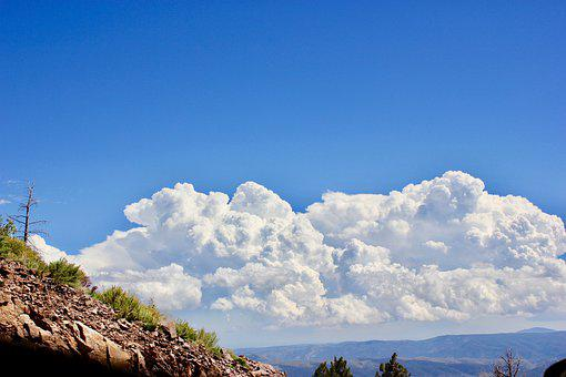 Cumulus Clouds, New Mexico Clouds, Sky With Clouds