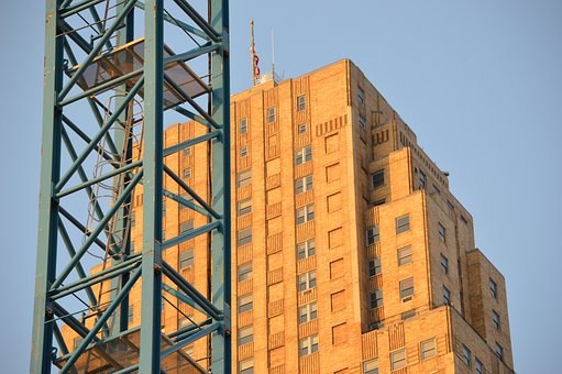 Skyscraper, Crane, Construction, City, Architecture