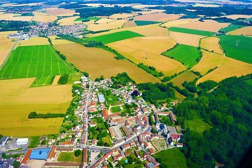France, Village, Summer, Houses, Nature, Landscape