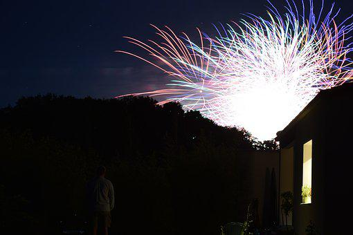 Night, Festival, Fireworks, 14 July, Shine, Shooting
