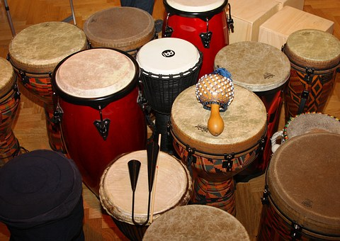 Percussion, Drums, Djembe, Bell, Rattle, Calabash