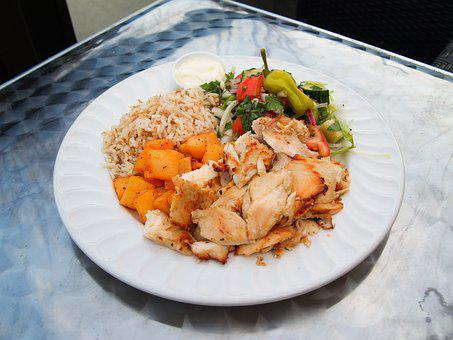 Chicken, Healthy, Dinner, Breast, Meal, Salad, Organic