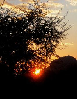 Sunset, Cloud, White, Streky, Sun, Orb, Bright, Halo
