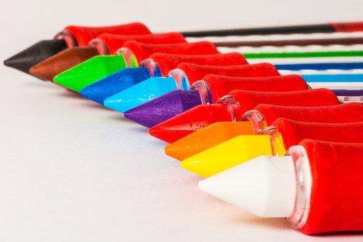Colored Pencils, Pens, Crayons, Colour Pencils