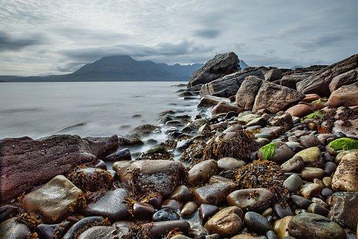 Beach, Rock, Coast, Scotland, Isle Of Skye, Elgol