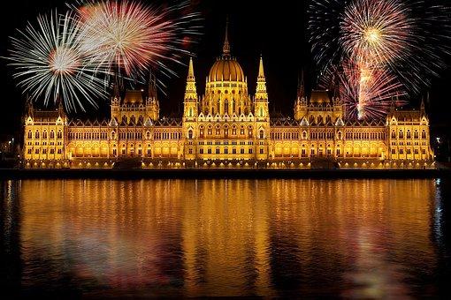 Budapest, Parliament, According To Hungary, Fireworks