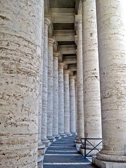 Bernini's Colonnade, St Peter's Square, Rome, Italy