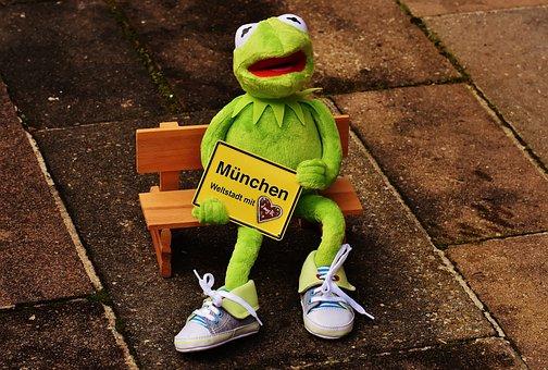Munich, Bavaria, Cosmopolitan City, Kermit, Frog