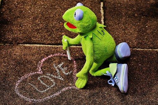 Straßenkreide, Love, Valentine's Day, Kermit, Frog