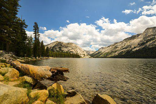 California, Usa, America, Summer, Sunny, Clouds, Lake