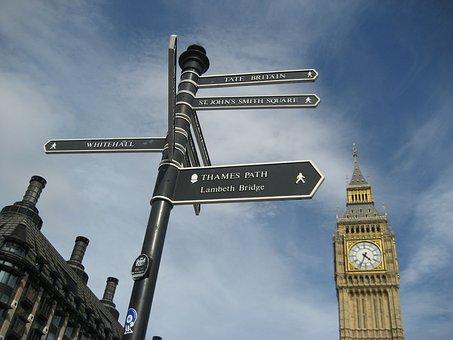 Addresses, London, Big Ben, Clock, Buildings, Sky