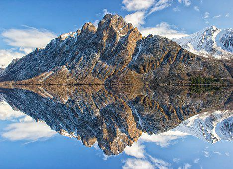 Mountain, Water, Landscape, Mountain And Water, Nature