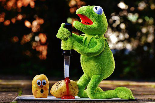Potatoes, Knife, Ketchup, Blood, Murder, Funny, Kermit