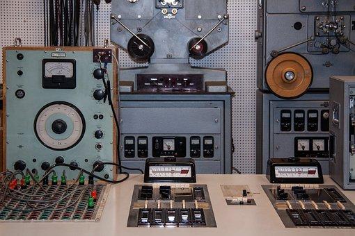Music Studio, Studio, Old, 1960, Synthesizer