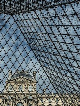 Pyramid, Louvre, Glass, Paris, Glass Pyramid, Museum
