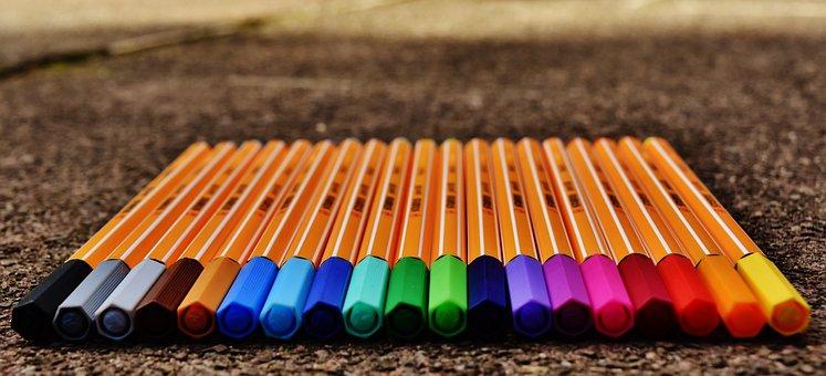 Pens, Colour Pencils, Colored Pencils, Color, Colorful