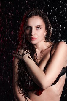 Photo Shoot In Akvastudii, Moscow, Water, Drops