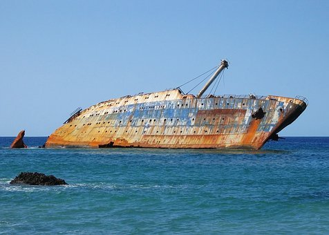 Canary Islands, Shipwreck, Ship, Wrecked, Salvage, Sky