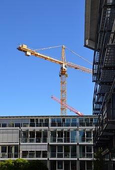 Site, Crane, Scaffolding, Building Construction, Action