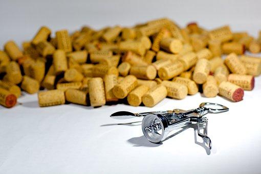Corks, Corkscrew, Screw, Wine, Drink, Alcohol, Beverage