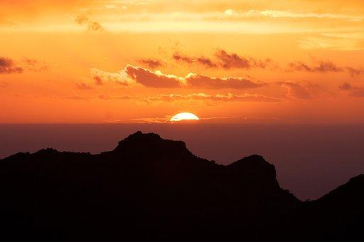 Canary Islands, Sunset, Tenerife, Clouds, Sky