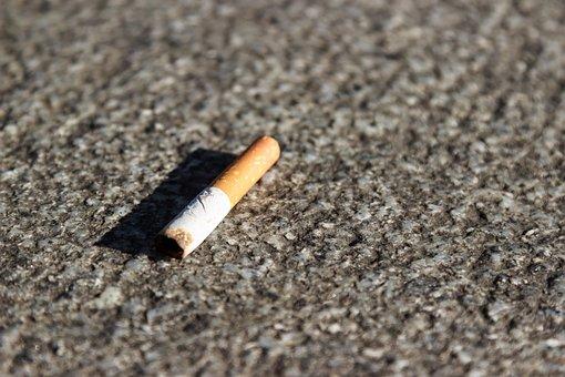 Cigarette, Smoking, Tobacco, Cigarette End, Throw Away