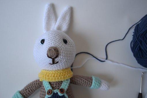 Rabbit, Knitting, Diy, Handmade, Toy, Soft, Yarn