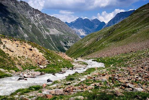 Mountains, The Alps, Austria, Torrent, Stream