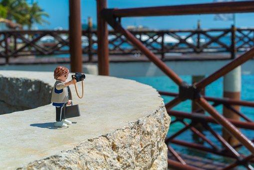 Playmobil, Travel, Details, Shooting, Camera, Sea