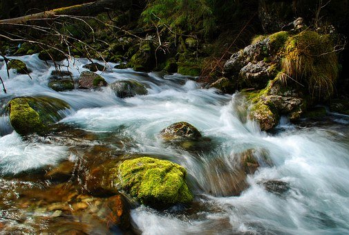 Stream, Torrent, River, Tatry, Poland, Water