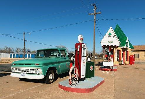 Petrol Stations, Workshop, Garage, Old, Vintage