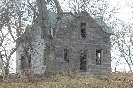 Haunted, Farmhouse, Abandoned, Rural, Deserted