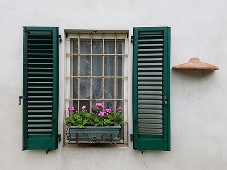 House, Window, Flower, Shutters, Ante, Jealousy