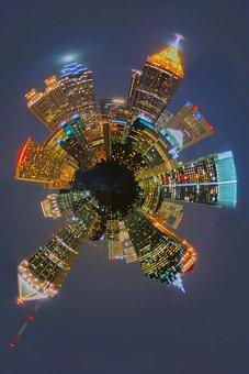 View, Aerial View, America, Architecture, Atlanta