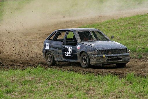 Autocross, Motorsport, Opel, Cadet, Race, Rally